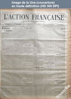 L' ACTION FRANCAISE  numéro 284 du 11 octobre 1913