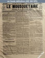 LE MOUSQUETAIRE  numéro 188 du 30 mai 1854