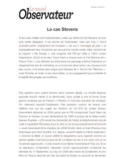 Le cas Stevens