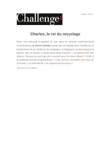 Charles, le roi du recyclage