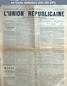 L' UNION REPUBLICAINE DE FONTAINEBLEAU  numéro 1629 du 08 mars 1893