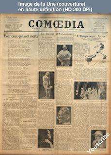 COMOEDIA numéro 3972 du 02 novembre 1923