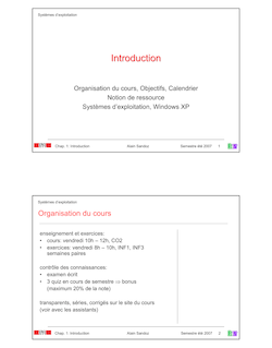 Organisation ducours