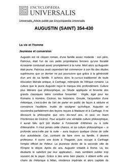 AUGUSTIN (SAINT) 354-430
