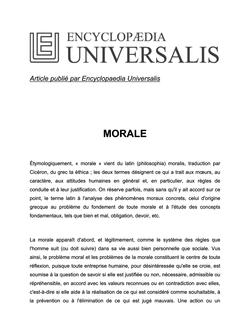 Définition de morale