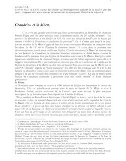 Grandrieu et St Méen. Article CER