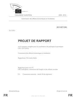 FR FR PROJET DE RAPPORT