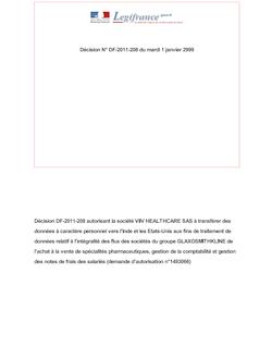 DECISION n°DF-2011-208 du