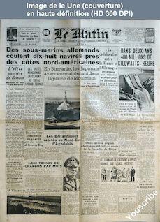 LE MATIN  numéro 21082 du 26 janvier 1942