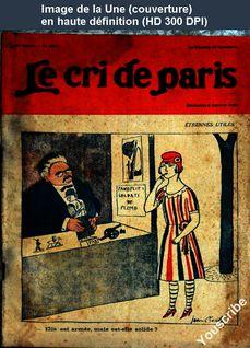 LE CRI DE PARIS  numéro 1397 du 06 janvier 1924