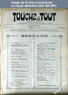 TOUCHE A TOUT numéro 11 du 01 novembre 1909