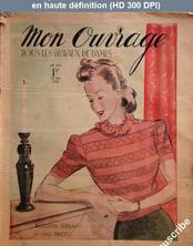 MON OUVRAGE numéro 414 du 15 mai 1940