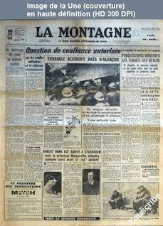 LA MONTAGNE  numéro 12244 du 06 mars 1958