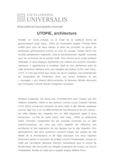 D finition et synonyme de utopie architecture antoine for Synonyme architecture