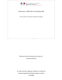 Ordonnance n° 2008-1345 du 18 décembre 2008