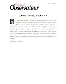 Cindy Lauper, chanteuse