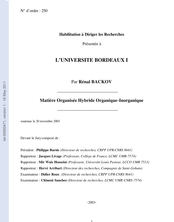 Matière Organisée Hybride Organique-Inorganique