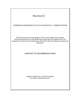 rapport CM - Étude budget 2012