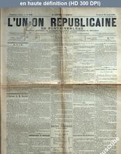 L' UNION REPUBLICAINE DE FONTAINEBLEAU  numéro 1943 du 24 avril 1896