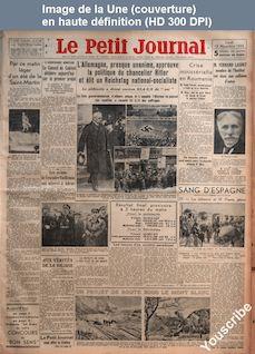 LE PETIT JOURNAL  numéro 25869 du 13 novembre 1933