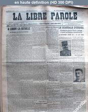 LA LIBRE PAROLE  du 22 octobre 1911