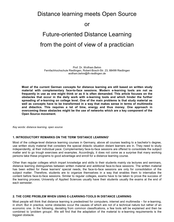 Distance learning meets Open Source