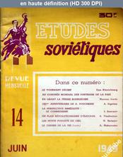 ETUDES SOVIETIQUES numéro 14 du 01 juin 1949