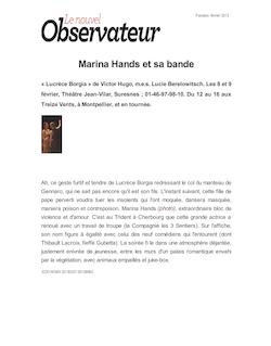 Marina Hands et sa bande