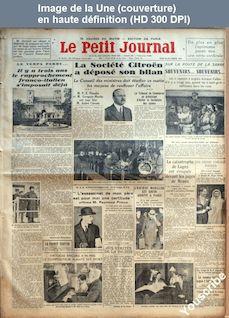 LE PETIT JOURNAL  numéro 26271 du 20 décembre 1934