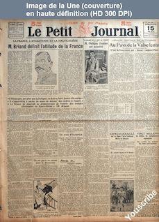 LE PETIT JOURNAL  numéro 21304 du 15 mai 1921