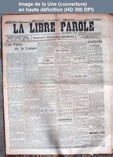 LA LIBRE PAROLE  numéro 5657 du 16 octobre 1907