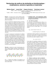 Recherches de motifs et de similarités en bioinformatique : modélisations, solutions logicielles et matérielles
