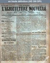 L' AGRICULTURE NOUVELLE  numéro 184 du 27 octobre 1894