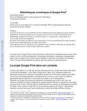 Bibliothèques numériques et Google-Print