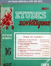 ETUDES SOVIETIQUES numéro 16 du 01 août 1949