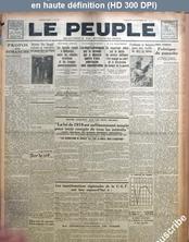 LE PEUPLE  numéro 2149 du 28 novembre 1926