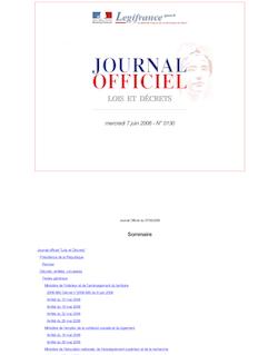JORF n°130 du 7 juin 2006