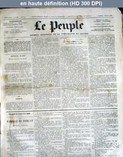 LE PEUPLE  numéro 211 du 09 mars 1872