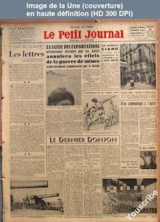 LE PETIT JOURNAL  numéro 28069 du 26 novembre 1939