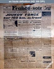 FRANCE SOIR numéro 220 du 09 mars 1945