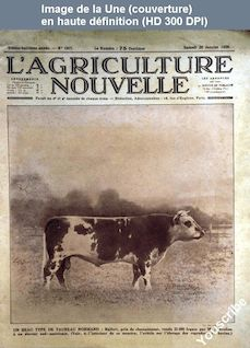 L' AGRICULTURE NOUVELLE  numéro 1507 du 28 janvier 1928