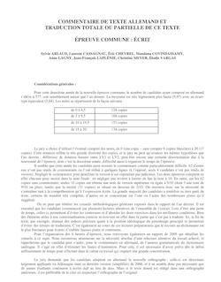 COMMENTAIRE DE TEXTE ALLEMAND ET TRADUCTION TOTALE OU PARTIELLE DE ...