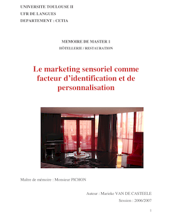Le marketing sensoriel comme facteur d'identification et de ...