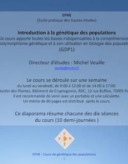 Diapositive 1 - Muséum National d'Histoire Naturelle