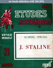ETUDES SOVIETIQUES numéro 21 du 21 janvier 1950