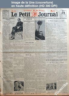 LE PETIT JOURNAL  du 24 novembre 1921