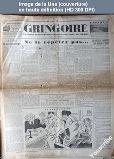 GRINGOIRE numéro 168 du 22 janvier 1932