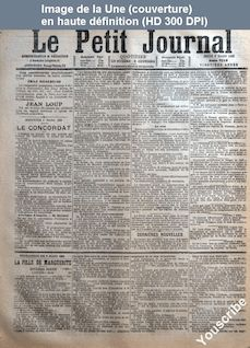 LE PETIT JOURNAL  numéro 7013 du 09 mars 1882