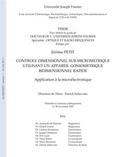 CONTROLE DIMENSIONNEL SUB‐MICROMETRIQUE UTILISANT UN APPAREIL GONIOMETRIQUE BIDIMENSIONNEL RAPIDE Application à la microélectronique