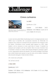 Cimes culinaires